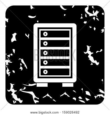 Security safe locker icon. Grunge illustration of security safe locker vector icon for web