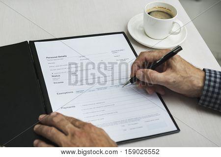 Application Form Filling Applying Concept