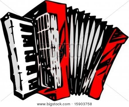 Vector illustration of accordion in original style. Very CLEAN vectors. Reduced file size for Flash animations and ready for vinyl cutting as well.