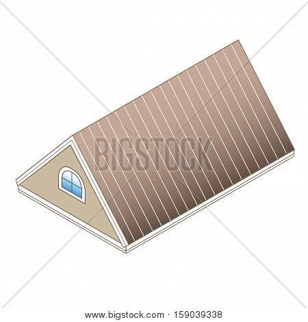 pitched roof with dormer. Type of roofing: Pitched