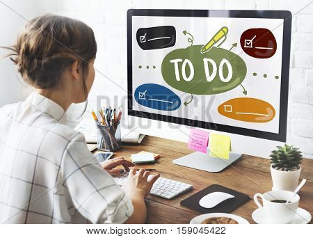 Woman Creative Planning Graphic Concept