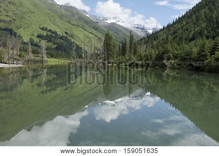 Mt Siguniang scenery in Sichuan of aba, China