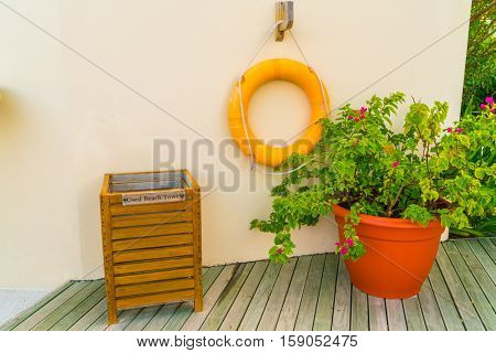 lifebouy or safety ring in maldives