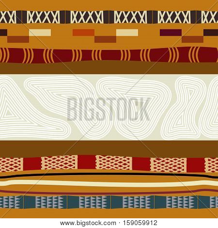 Ethnic Seamless texture. Abstract, ethno tribal background