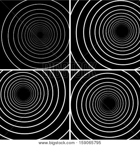 Collection of concentric Lines. Spiral Background. Volute Hypnosis Circular