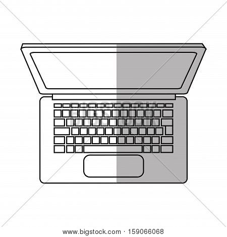 Laptop icon. Device gadget technology and electronic theme. Isolated design. Vector illustration