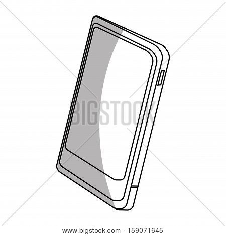 Smartphone icon. Device gadget technology and electronic theme. Isolated design. Vector illustration