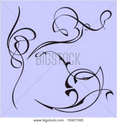 Exquisite Design Elements 34 (Vector) Very clean and exquisite design elements of ornamental type.  Very clean vectors!