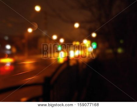 background with night city and Blurs