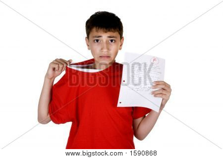 Boy With Failing Grade