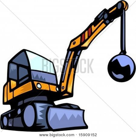 Demolition  vehicle.Vector illustration