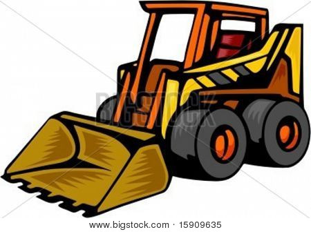 Skid Steer loader.Vector illustration