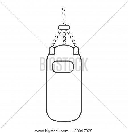 outline punching bag training gym icon vector illustration eps 10