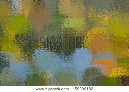 blurred abstract background of colored spots green yellow