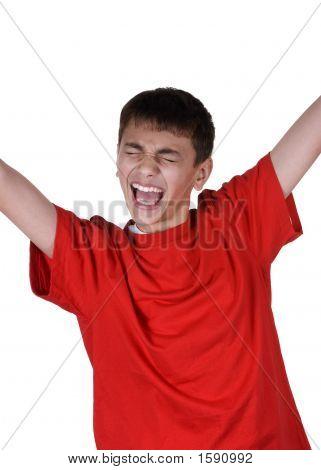Boy Celebrating
