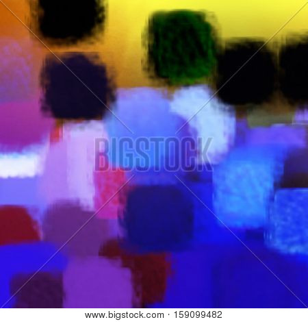 blurred abstract background of colored spots blue orange