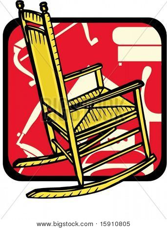Rocking chair.Pantone colors.Vector illustration