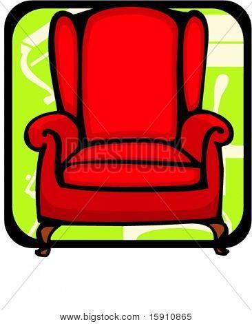 Armchair.Pantone colors.Vector illustration