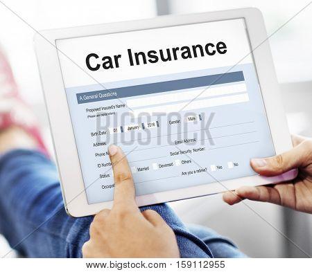Car Insurance Claim Form Concept