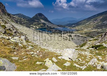 Amazing Landscape of Gergiytsa peak and Gergiyski lakes,  Pirin Mountain, Bulgaria