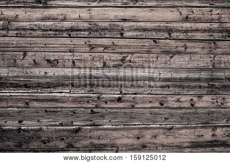 Natural old dirty wooden wall with planks. Grunge wooden wall used as background
