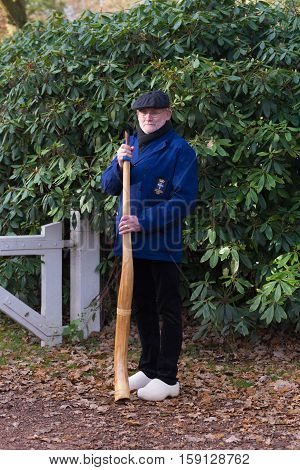 OLDENZAAL NETHERLANDS - NOVEMBER 27 2016: Unknown man posing with a so called