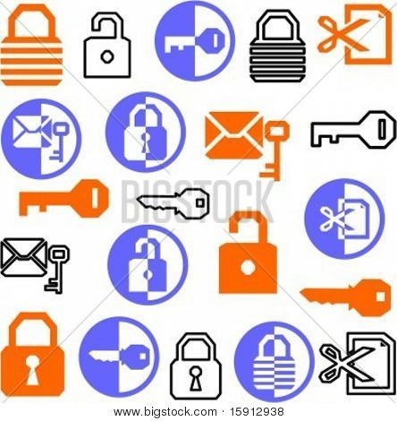 A set of 21 security icons.