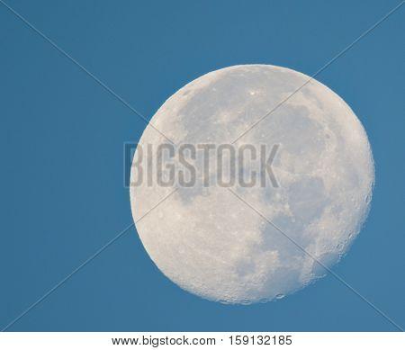 nice big moon on blue sky on the night