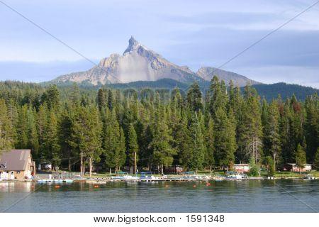 Mt. Thielsen At Diamond Lake
