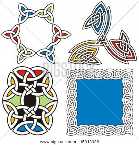 A set of 4 celtic ornamental designs.