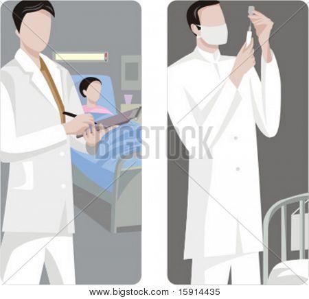 A set of 2 medical illustrations.