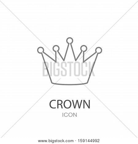 Black crown icon on a white background.. Flat style object.