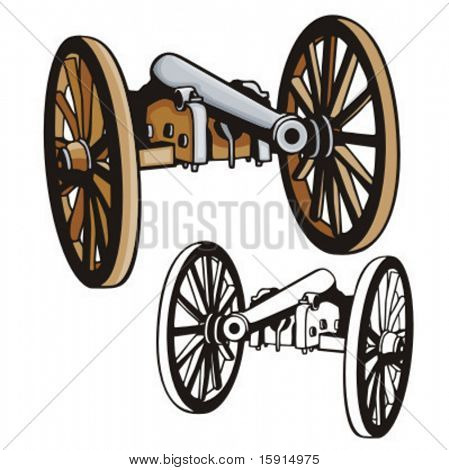 Illustration of a western cannon.