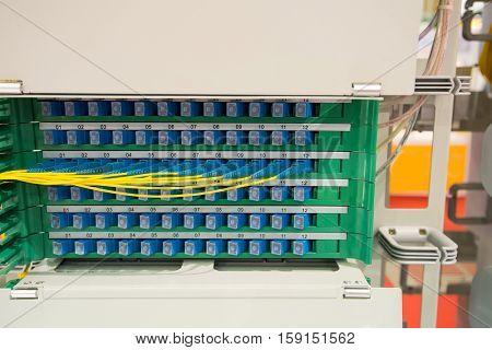 fiber optic in technology data center .