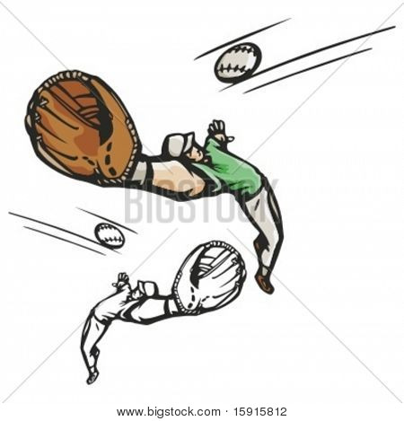 Baseball pitcher. Vector illustration