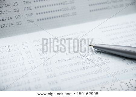 Save money concept Account bank or bank book with pen save money and save life