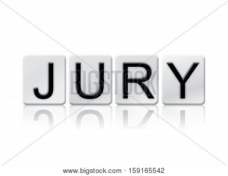 Jury Isolated Tiled Letters Concept And Theme