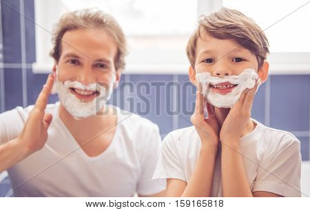 Father And Son In Bathroom