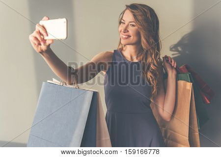 Stylish Woman With Gadget