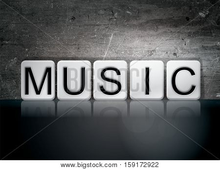 Music Tiled Letters Concept And Theme
