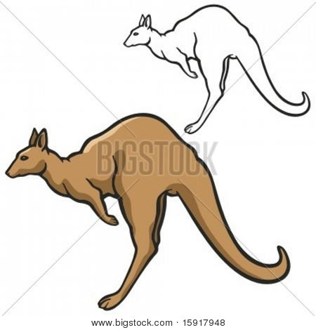 Kangaroo Mascot for sport teams. Great for t-shirt designs, school mascot logo and any other design work. Ready for vinyl cutting.