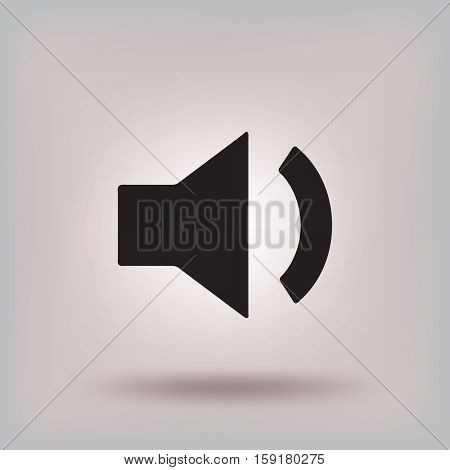 Volume icon, vector illustration. Flat design style