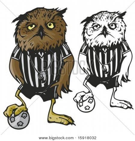 Eule-Fußball-Maskottchen. Ideal für T-shirt Designs, Maskottchen Schullogo und anderen Design arbeiten. Bereit fo