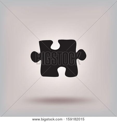 Flat icon. Puzzle.