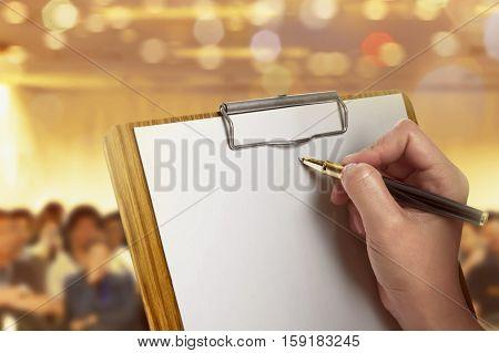 Women Write Blank Paper