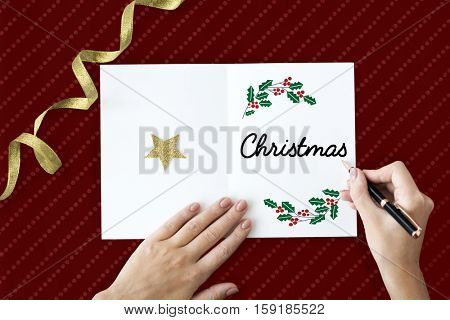 Merry Christmas Family Time Celebration Holiday Concept