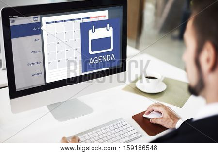 Appointment Agenda Reminder Personal Organizer Calendar Concept