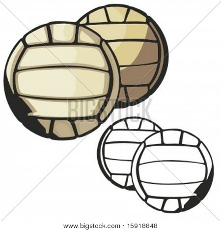 Volleyball vector illustration.