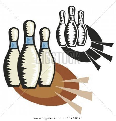 Bowling pins. Vector illustration
