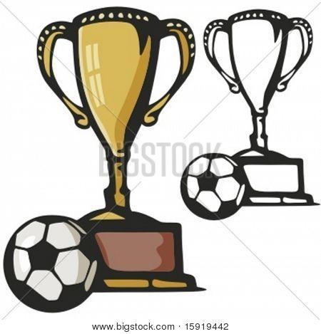 Fußball gold Cup. Vektor-illustration